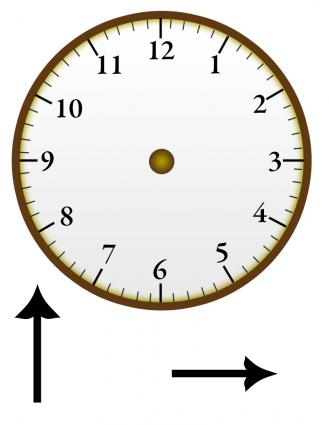 how to make a clock face to learn time