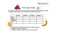 Worksheets Logic Puzzles Worksheets printable logic puzzles for kids fruit puzzle