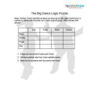 The big dance logic puzzle