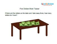 five dollars brain teaser