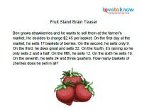 fruit stand brain teaser