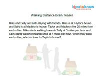 walking distance brain teaser