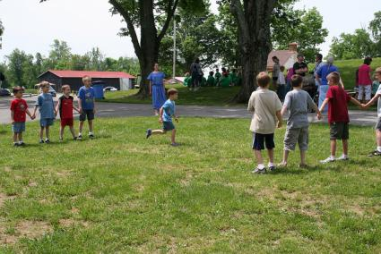Kids Playing Red Rover