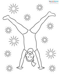 Children Doing Cartwheels Coloring Pages