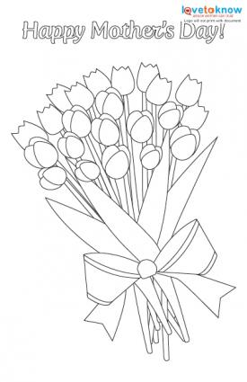 Bouquet Of Flowers Click To Print This Card