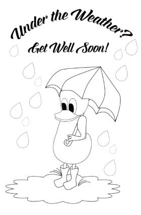 Duck get well card.