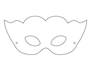 Free Mardi Gras mask coloring page