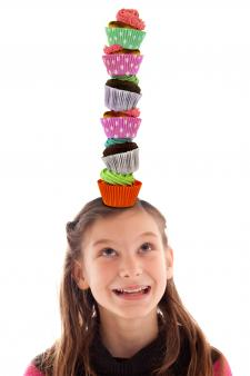 Girl playing cupcake unicorn
