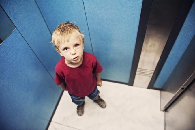 kid in elevator
