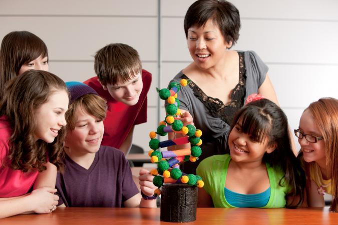 Students Study DNA