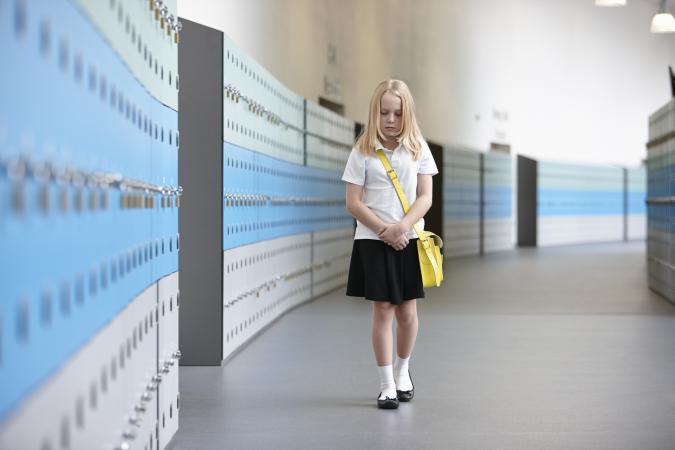 Unhappy schoolgirl