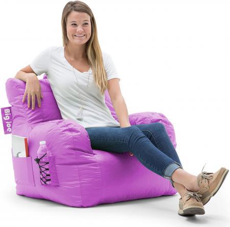 Big Joe Dorm Bean Bag Chair, Radiant Orchid