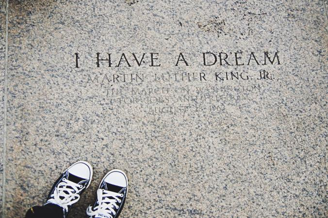 I Have a Dream floor engraving