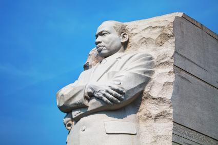 Martin Luther King, Jr memorial monument on September 2, 2015 in Washington, DC.