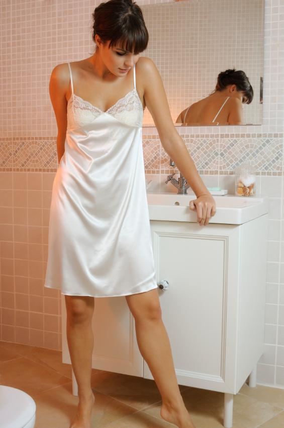 Women in Silky Slips
