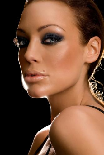 seductive eye makeup. of seductive eye makeup.
