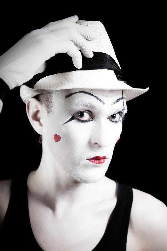 Mime Face Makeup Ideas - Mugeek Vidalondon