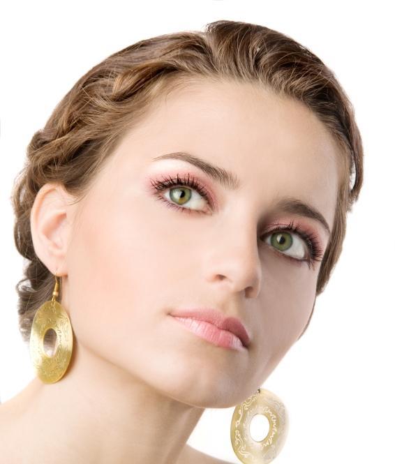 Green Eyes and Violet Eye Makeup
