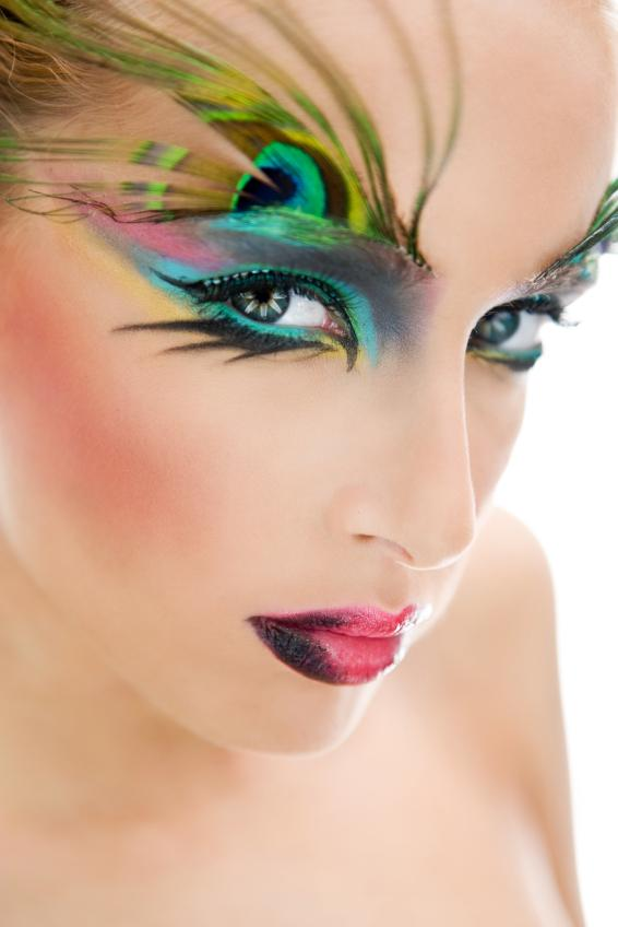 Fantasy Peacock Makeup Pictures Slideshow
