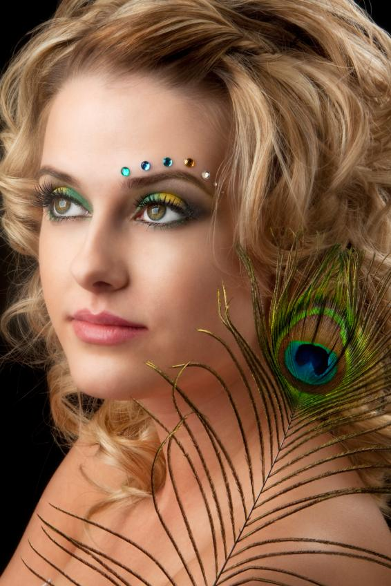 Fantasy Peacock Makeup  Peacock Fantasy Makeup
