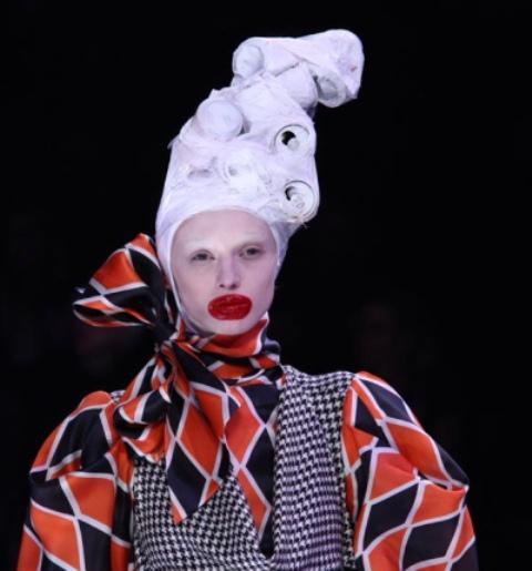 Crazy runway makeup