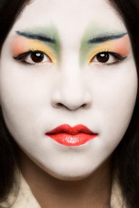Japanese woman in makeup