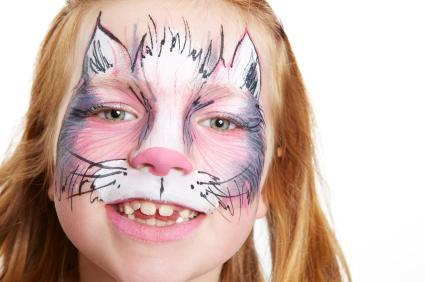 Cartoon cat face paint