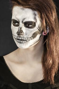 skeleton face makeup - Skeleton Face Paint For Halloween