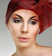 Woman in fantasy makeup