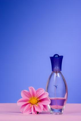 Perfume and a flower