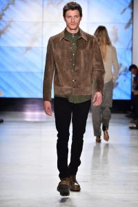 Male model on runway