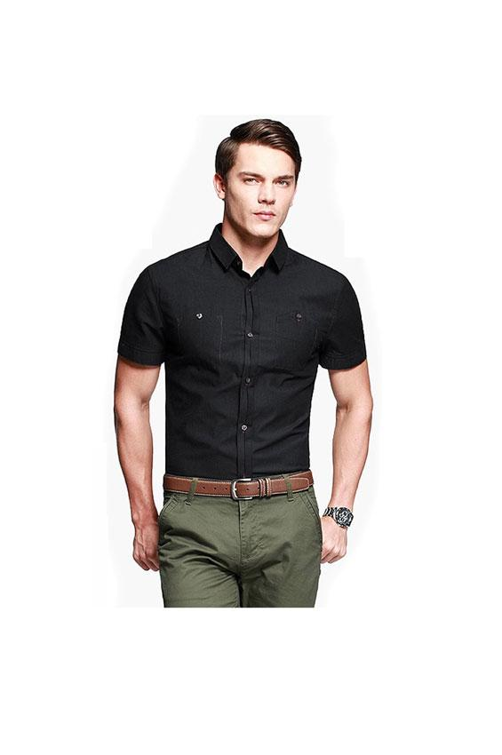 Pictures of men 39 s short sleeve dress shirts slideshow for Mens short sleve dress shirts