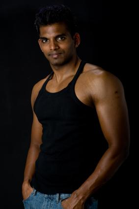 Cool Full Black Tank Tops Fashion for Men with Spike Hairstyle in Summer 2011