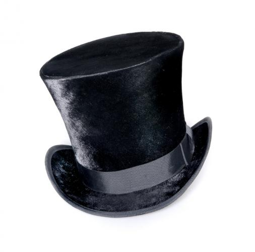 Classic Topper Fashion with High Hat for Men in 1800's