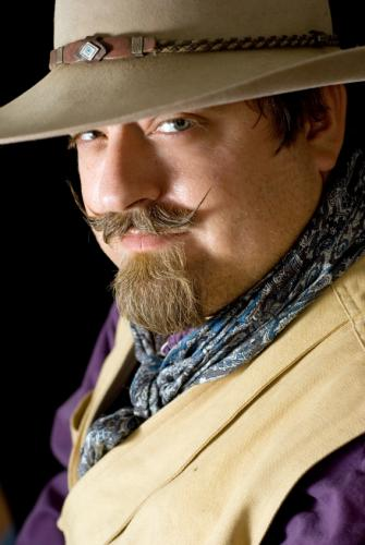 Old Cowboy Fashion Hat with Classic Costume Cowboy for Men