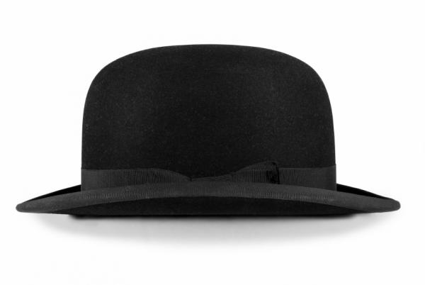 Black Hat Classic Fashion with Topper Style in 1800's for Men