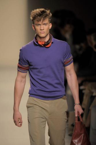 2011 Bright Shirt Fashion with Bald Hairstyle and Etro Style for Men at The
