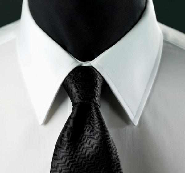 Types of dress shirt collars slideshow Straight collar dress shirt