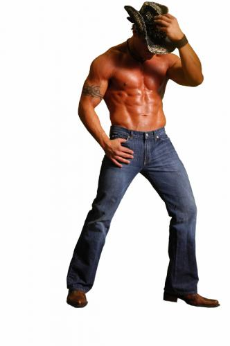Muscle Cowboy Fashion Style Combine with Blue Jeans Style for Men in 2011