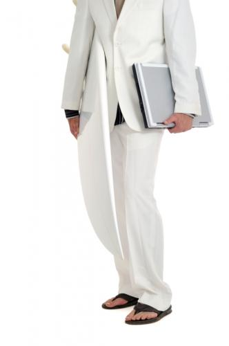 Trend White Casual Suit Fashion for Men with Sandals Style for Men