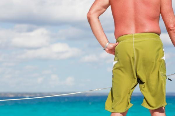 Cool Colorful Men Short Fashion with Subtle Color Combine Green Color for Men at The Beach