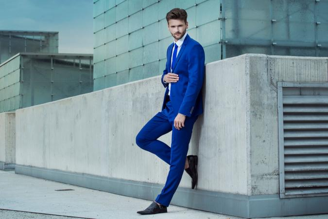 Tall man in fashion