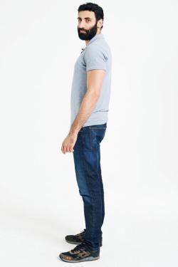 Polo shirt with straight bottom