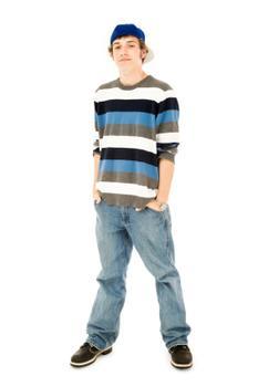 Mens Wide Leg Jeans