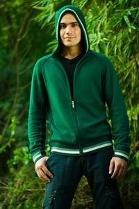 zippered hoodie