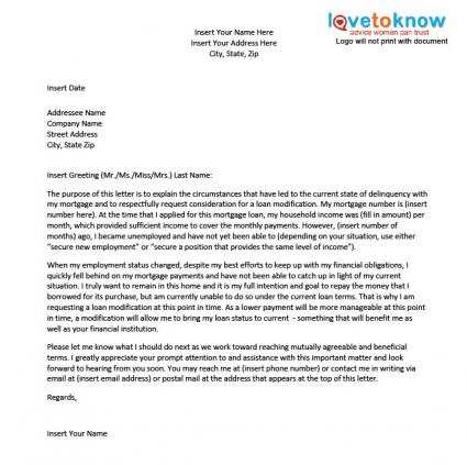 Sample Hardship Letter For A Loan Modification