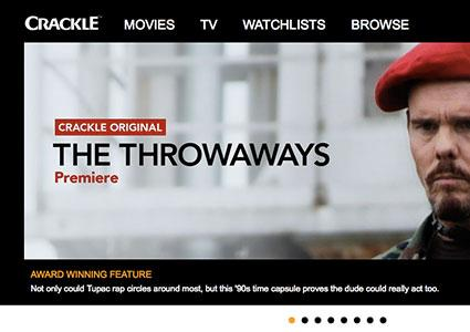 Screenshot of Crackle.com
