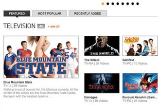 screenshot of crackle television shows