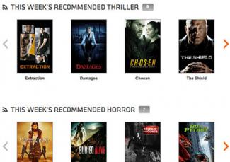 Screenshot of Crackle movies
