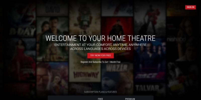 Screenshot of BigFlix